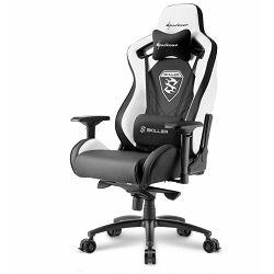 Gaming stolica SHARKOON Skiller SGS4, crno-bijela