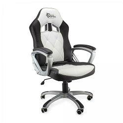 Gaming stolica WHITE SHARK PHANTOM crno bijela