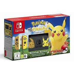 Igraća konzola NINTENDO Switch Lets Go Pikachu Edition (Pokemon:Lets Go Pikachu+Poke Ball)