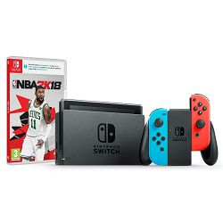 Igraća konzola NINTENDO Switch - Red & Blue Joy-Con HAD + NBA 2K18 Switch