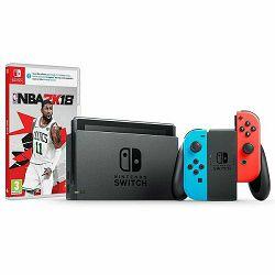 Igraća konzola NINTENDO SWITCH Red & Blue Joy-Con + NBA 2K18 + Rayman Legends DE Switch