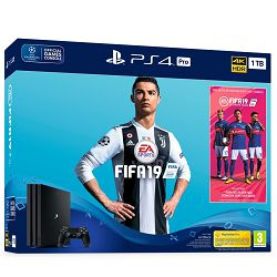 Igraća konzola SONY PLAYSTATION 4 PRO 1TB B Chassis + FIFA 19 stand.edi. + 14days PS plus