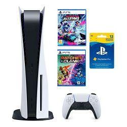 Igraća konzola PlayStation 5 B Chassis + Ratchet & Clank Rift Apart PS5 + Destruction AllStars PS5 + Playstation Plus Card 365