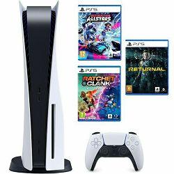 Igraća konzola PlayStation 5 B Chassis + Ratchet & Clank Rift Apart PS5 + Destruction AllStars PS5 + Returnal PS5
