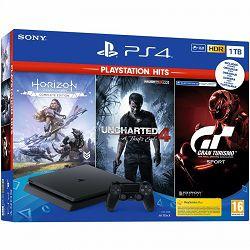 Igraća konzola SONY PLAYSTATION 4 1TB F CHASSIS + GT Sport + Horizon Zero Dawn CE + Uncharted 4 Hits