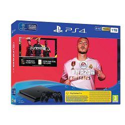 Igraća konzola SONY PlayStation 4 1TB F chassis + FIFA 20 + Dualshock WiFi Controller + FUT 20 VCH + PS Plus 14 Days
