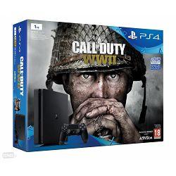 Igraća konzola SONY PLAYSTATION 4 1TB Slim D CHASSIS crni + Call of Duty: WWII + That's You + PS Plus 14 days