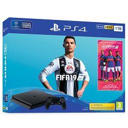 Igraća konzola SONY PLAYSTATION 4 1TB Slim F chassis + FIFA 19 stand. ed. + 14 days PS Plus
