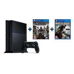 Igraća konzola SONY PLAYSTATION 4 500GB Black + Assassins Creed Syndicate + Watch Dogs