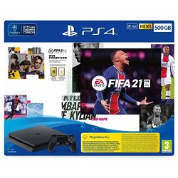 Igraća konzola SONY PLAYSTATION 4 500GB F Chassis + FIFA 21 + FUT VCH + PS PlUS 14 dana