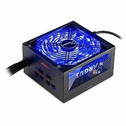 Napajanje INTER-TECH Argus RGB 650W CM, 80PLUS Gold, 140mm fan with 21 ultra bright LEDs,Switchable illumination, Acrylic glass side panel, active PFC, 2xPCI-e, OPP/OVP/SCP protection, semi-modular