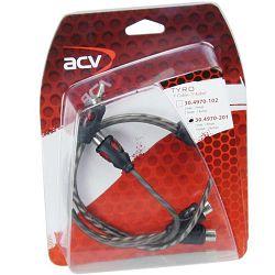 Kabel  RCA Y ACV TYRO Economy Line 30 cm 1M 2Ž