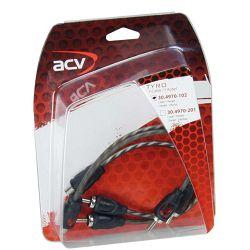 Kabel  RCA Y ACV TYRO Economy Line 30 cm 2M 1Ž