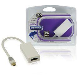 Kabel BANDRIDGE BBM39000W02, MHL - HDMI ž + Micro USB 2.0, 0.2M, bijeli