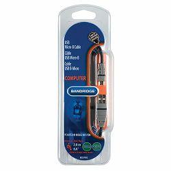 Kabel BANDRIDGE BCL4902 MICRO-B USB kabel 2M