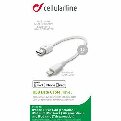 Kabel USB za mobitel APPLE iPhone CELLULAR bijeli 15 cm