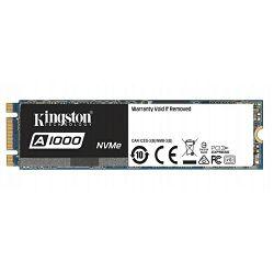 Kingston A1000 NVMe 480GB,R1500/W900, M.2 2280
