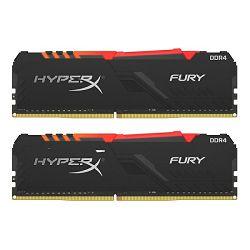 RAM memorija KINGSTON DDR4 HX Fury RGB, 16GB(2x8GB),2666MHz