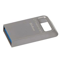 USB memorija KINGSTON 64GB DTMicro USB 3.1/3.0 Type-A metal ultra-compact flash drive, EAN: 740617242874