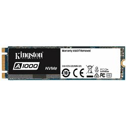 Kingston 960GB SSDNOW A1000 M.2 2280 NVMe PCIE x2 lanes, 600TBW, EAN: 740617277296