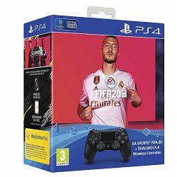 Kontroler Dualshock PS4 v2 Black + FIFA 20 + FUT VCH + PlayStation Plus 14 Days