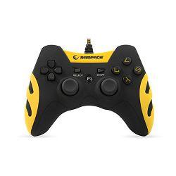 Kontroler RAMPAGE PC / PS3 SG-R218 žičani crno žuti