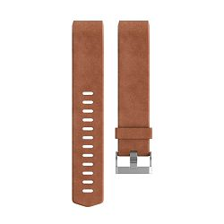 Kožni remen FITBIT Charge 2 leather band smeđi L