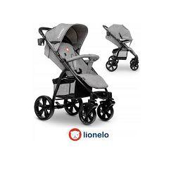 Lionelo dječja kolica ANNET siva + zaštita od sunca, komaraca, prekrivač za