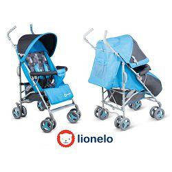Lionelo dječja kolica ELIA plava + zaštita od kiše, komaraca, prekrivač za noge