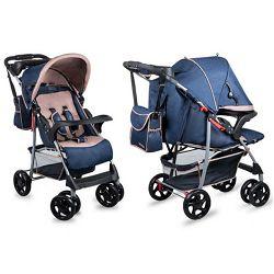Lionelo dječja kolica EMMA PLUS plava + torba za mamu