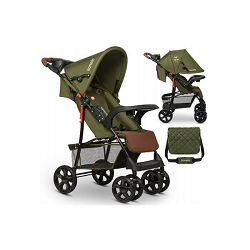 Lionelo dječja kolica EMMA PLUS zelena-smeđa + torba za mamu