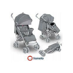 Dječja kolica LIONELO IRMA siva + mreža protiv komaraca, zaštita od kiše