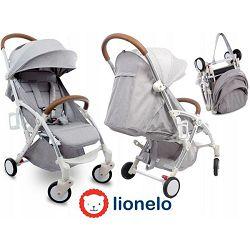 Lionelo dječja kolica JULIE siva + držač za boce, navlaka, mreža protiv komaraca