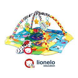 Lionelo dječja podloga za igru - edukativni madrac s igračkama, plavi Anika