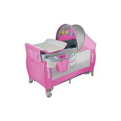 Lionelo dječji prijenosni krevetić Sven PLUS rozi + dodatci + igračke