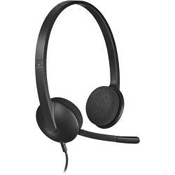 Slušalice s mikrofonom LOGITECH H340 USB