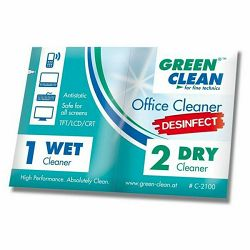Maramice za čišćenje zeleni CLEAN DEZINFEKCIJSKE - C-2100-10