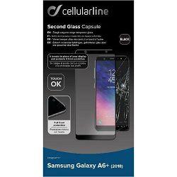 Zaštitno staklo CELLULARLINE za SAMSUNG GALAXY A6+ 2018 crno