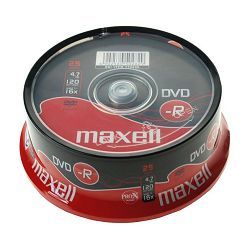 DVD-R MAXELL 16x, 4.7GB 25 kom spindle