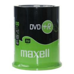 DVD disk Maxell DVD+R 16x, 4.7GB 100 kom spindle