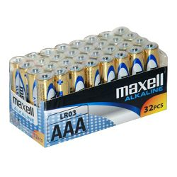 Maxell alk. baterija LR-3/AAA, 32 kom, shrink