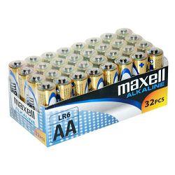 Maxell alk. baterija LR-6/AA, 32 kom, shrink