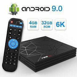 Media box T95 MAX 6K (Android 9.0, 4GB RAM, 32GB HDD, WiFi, Allwinner H6 CPU, USB 3.0, 2 godine jamstva)