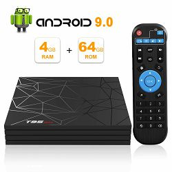 Media box T95 MAX 6K (Android 9.0, 4GB RAM, 64GB HDD, WiFi, Allwinner H6 CPU, USB 3.0, 2 godine jamstva)