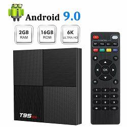 Media box T95 Mini 6K (Android 9.0, 2GB RAM, 16GB HDD, WiFi, Allwinner H6 CPU, USB 3.0, 2 godina jamstva)