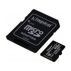 Memorijska kartica KINGSTON micro SDXC, 512GB + adapt, Select Plus, CLASS 10