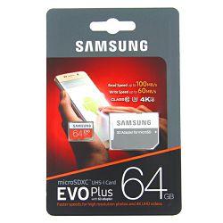 Memorijska kartica SAMSUNG Micro SD 64GB  UHS-1 + SD adapter 100 MB/s Class 10