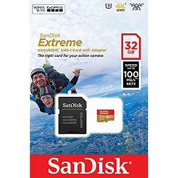 Memorijska kartica SANDISK microSDHC 32GB + SD ADAPTER 100MB/s A1 C10 V30