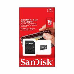 Memorijska kartica SANDISK SD MICRO 16GB Standard + adap.