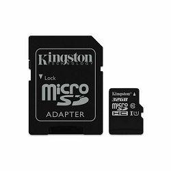 Memorijska kartica SD MIKRO 32GB KINGSTONE CLASS 10 UHS-I + 1AD